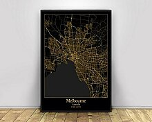 Leinwandbilder Bild,Melbourne Australien Stadt