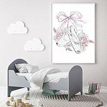 Leinwanddruck Blumenposter Für Mädchen Und