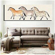Leinwanddruck Moderne Pferde Poster Für Kinder