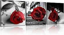 Leinwanddruck Schwarz und Weiß Rote Rose Leinwand