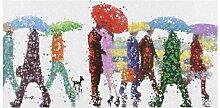 Leinwanddruck Umbrellas, Kunstdruck Schuller