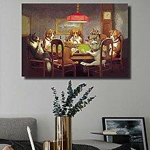 Leinwanddruck Wandkunst Bild Für Wohnzimmer Hund
