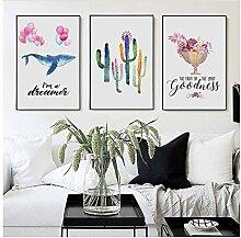 Leinwanddruck Wandkunst Pflanze Blumenbild