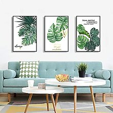 Leinwandmalerei Grüne Pflanze Leinwand Malerei