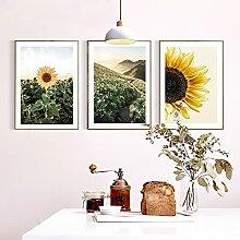 Leinwandmalerei Sonnenblumenbild Home Decor Nordic