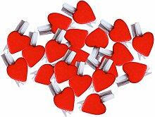 Leisial 50 stück Mini Holzklammern Herz Klammern