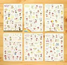 Leisial 6 Blatt Tagebuch Sticker Fotoalbum Sticker