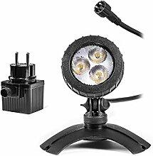 Leistungsfähiger Teichstrahler mit LED