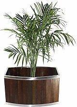 Leisure Season WSOV10DB Blumentopf aus Holz, oval,