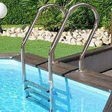 Leiter Inox für Pools aus Holz oder Erdtank