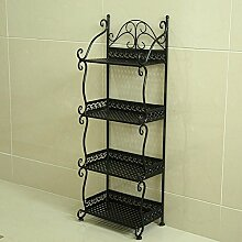 LEITSA- Badezimmer Regalboden Badezimmer Regal Handtuch Regal Regal Regal Magazin Stand ( Farbe : Schwarz , größe : 32*21*88cm )