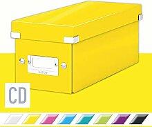 Leitz Click & Store CD Aufbewahrungsbox, gelb,