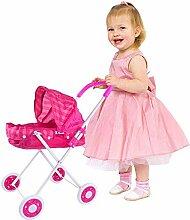 Leiyini Puppenwagen Kinderwagen Rosa Kinder Puppe
