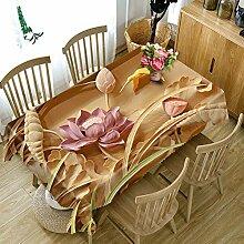 LEJIA Tischdecke 3D Tischdecke Relief Blumen