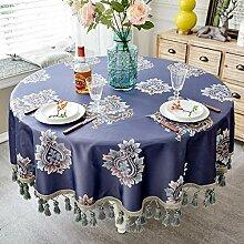 LEJIA Tischdecke Europäischen Stil Luxus Jacquard