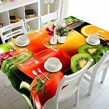 LEJIA Tischdecke Traubenfrucht Muster 3D