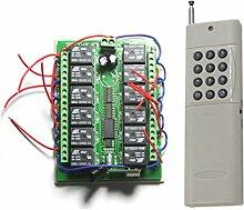 Lejin 12 Kanal DC 12V Hoch Reichweite bis 500M im Freifeld Funkfernsteuerung Funkempfänger Funkschaltsystem 12-Taste Sender & Empfänger für Licht Motor Pumpe Haus / Industrie Automatisierung Funk Fernschalter