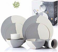 LEKOCH 8-teilige Bio Bambus Umweltfreundlich