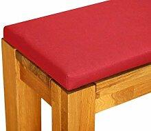 Lekoni Bankauflage Panama rot 120 x 38 cm 4 cm