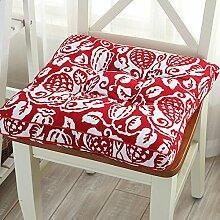 LELI Square Seat Kissen,Stuhlkissen Outdoor-stuhlkissen Weicher Sitz Sofa Gesteppte Design Für Küche Garten Office(Nur sitzkissen)-A 45x45cm(18x18inch)