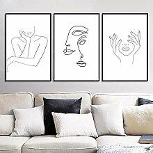 LELME Abstrakte Frauen Strichzeichnung Bild