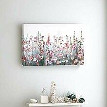 LELME Blumenwandkunst Leinwandmalerei Botanische