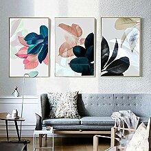 LELME Pflanzen Blatt Bild Kunst Druck Wandbilder