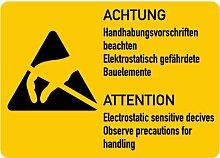 LEMAX® Aufkleber Achtung Elektrostatisch