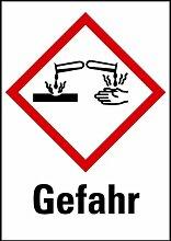 LEMAX® Aufkleber Ätzend Gefahr GHS Rolle mit 500