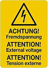 LEMAX® Aufkleber Blitz Symbol Achtung!