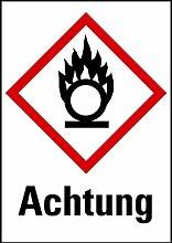 LEMAX® Aufkleber Brandfördernd Achtung GHS,