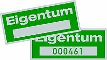 LEMAX® Aufkleber Eigentum silber/grün, mit