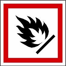 LEMAX® Aufkleber GHS 02 Gefahrensymbol Flamme auf