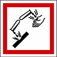 LEMAX® Aufkleber GHS 05 Gefahrensymbol