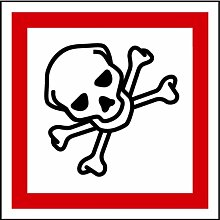 LEMAX® Aufkleber GHS 06 Gefahrensymbol Totenkopf