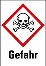 LEMAX® Aufkleber Giftig Gefahr GHS, Rolle mit 500