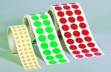 LEMAX® Aufkleber Markierungspunkte rot 25mm 100 Stück