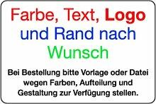 LEMAX® Aufkleber mit Farbe, Text, Logo und Rand