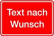 LEMAX® Aufkleber mit Text nach Wunsch, Grund rot,