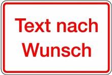 LEMAX® Aufkleber mit Text nach Wunsch, Grund