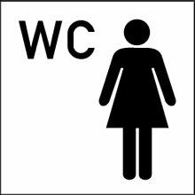 LEMAX® Aufkleber Piktogramm WC Frauen 300x300mm