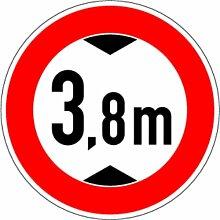 LEMAX® Aufkleber Verkehrszeichen 265 Verbot für