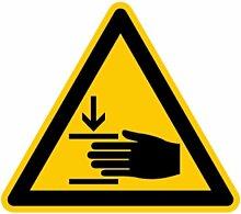 LEMAX® Aufkleber Warnung vor Handverletzungen