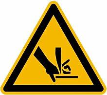 LEMAX® Aufkleber Warnung vor Schnittverletzungen Rolle mit 500 Stück SL 50mm