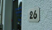 LEMAX® Hausnummernschild aus Edelstahl mit