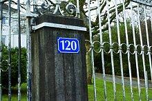 LEMAX® Hausnummernschild Hausnummer dreistellig,