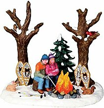 Lemax - Staying Warm - Beleuchtetes Lagerfeuer -