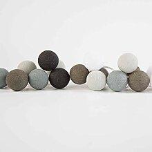 LENGAI (20) - Bunte Girlande - Cotton Balls