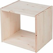 Lenmar Regalwürfel Cube, Grundmodul Fichte Natur,