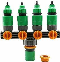lennonsi 4 Wege Wasserverteiler Wasserdurchfluss